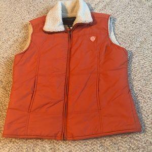 American Eagle Sherpa Lined Women's Vest Orange
